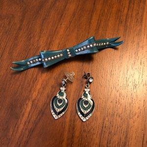 Vintage brooch and earrings
